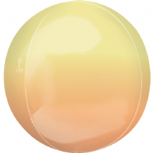 "Ombre Orbz Balloon - Yellow & Orange Ombre Orbz (15"") 1pc"